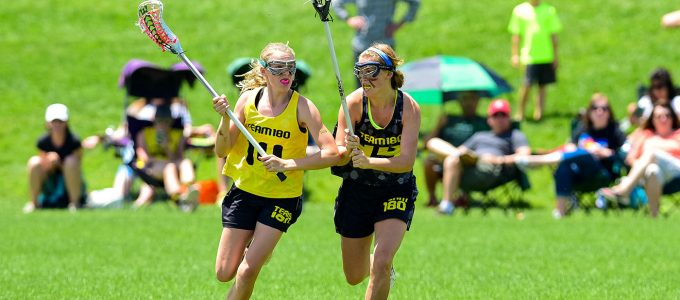 Team 180 Sports Girls playing on a field together